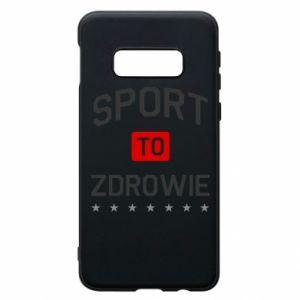 Samsung S10e Case Sport is health