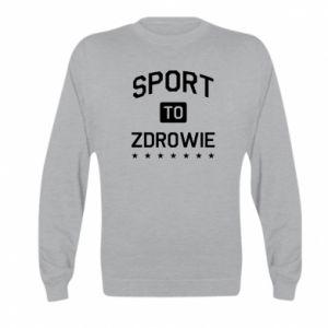 Kid's sweatshirt Sport is health