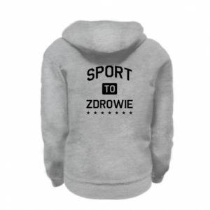 Kid's zipped hoodie % print% Sport is health