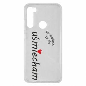 Xiaomi Redmi Note 8 Case You make me smile