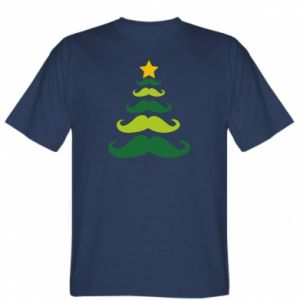 T-shirt Mustache Christmas Tree