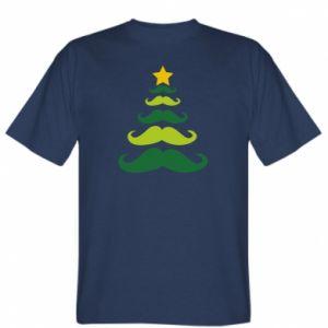 Koszulka męska Mustache Christmas Tree