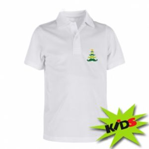 Koszulka polo dziecięca Mustache Christmas Tree