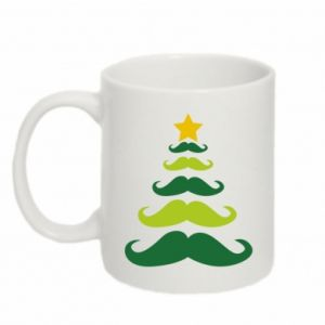 Mug 330ml Mustache Christmas Tree