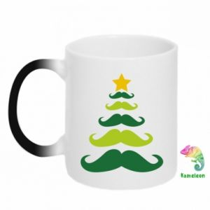 Chameleon mugs Mustache Christmas Tree
