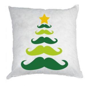 Poduszka Mustache Christmas Tree