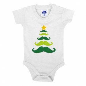 Body dziecięce Mustache Christmas Tree