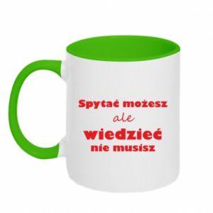 Two-toned mug Ask you... - PrintSalon