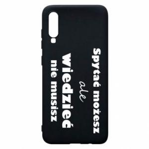 Etui na Samsung A70 Spytać możesz...