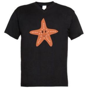 Men's V-neck t-shirt Starfish