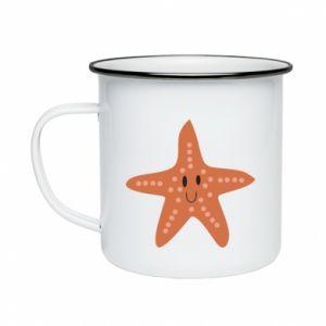 Kubek emaliowany Starfish