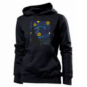 Women's hoodies Starlight Night - PrintSalon