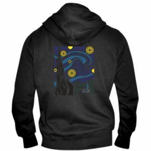 Men's zip up hoodie Starlight Night - PrintSalon