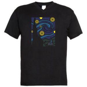 Men's V-neck t-shirt Starlight Night - PrintSalon