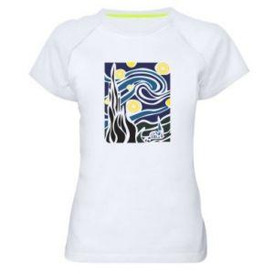 Women's sports t-shirt Starlight Night - PrintSalon