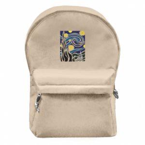 Backpack with front pocket Starlight Night - PrintSalon