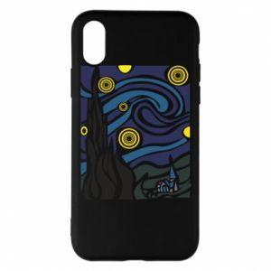 Phone case for iPhone X/Xs Starlight Night - PrintSalon