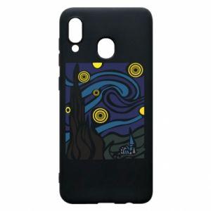 Phone case for Samsung A20 Starlight Night - PrintSalon