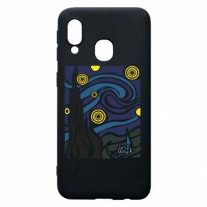 Phone case for Samsung A40 Starlight Night - PrintSalon