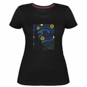 Women's premium t-shirt Starlight Night - PrintSalon