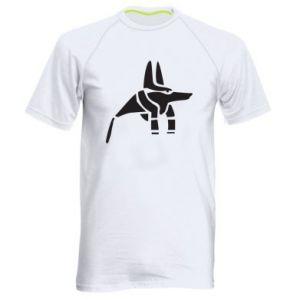 Męska koszulka sportowa Bóg starożytnych Egipcjan Anubis