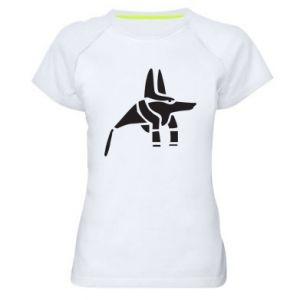 Damska koszulka sportowa Bóg starożytnych Egipcjan Anubis