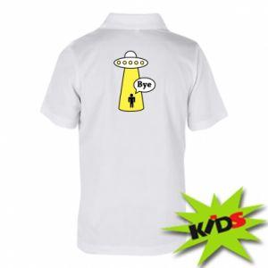 Koszulka polo dziecięca Statek kosmiczny i człowiek