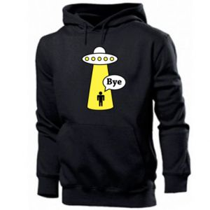 Men's hoodie Spaceship and man