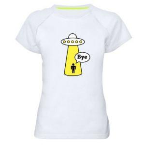 Damska koszulka sportowa Statek kosmiczny i człowiek