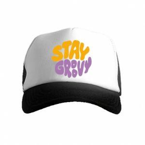 Czapka trucker dziecięca Stay groovy
