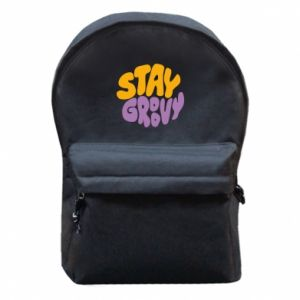 Plecak z przednią kieszenią Stay groovy