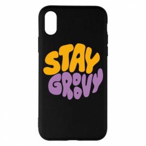 Etui na iPhone X/Xs Stay groovy