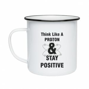 Enameled mug Stay positive
