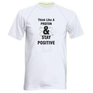 Men's sports t-shirt Stay positive