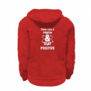 Kid's zipped hoodie % print% Stay positive