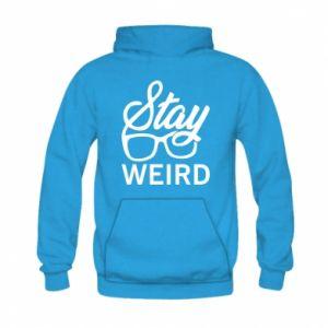 Bluza z kapturem dziecięca Stay weird