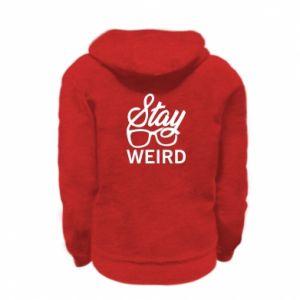 Bluza na zamek dziecięca Stay weird