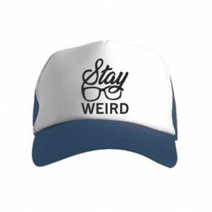 Czapka trucker dziecięca Stay weird
