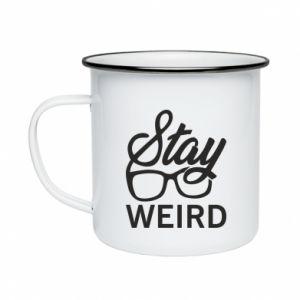 Kubek emaliowane Stay weird