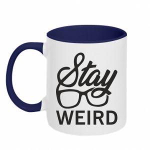 Kubek dwukolorowy Stay weird