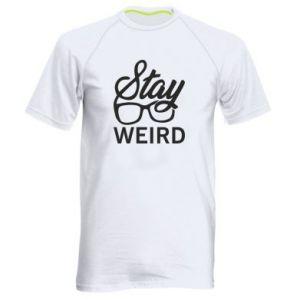Męska koszulka sportowa Stay weird