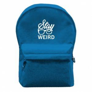 Plecak z przednią kieszenią Stay weird