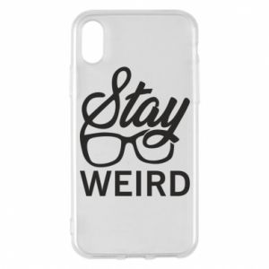 Etui na iPhone X/Xs Stay weird
