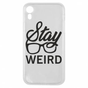 Etui na iPhone XR Stay weird
