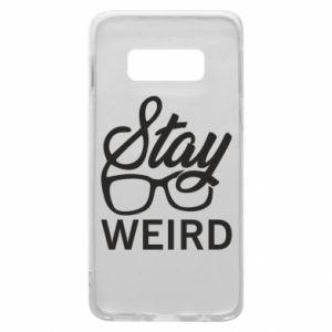 Etui na Samsung S10e Stay weird