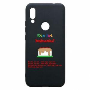 Etui na Xiaomi Redmi 7 Sto lat babuniu!