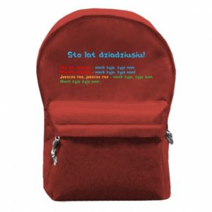 Plecak z przednią kieszenią Sto lat dziadziusiu!