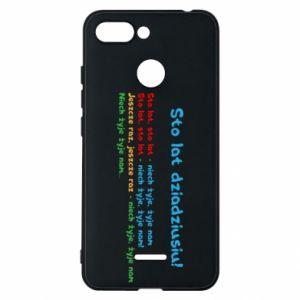 Phone case for Xiaomi Redmi 6 Happy birthday, grandpa! - PrintSalon