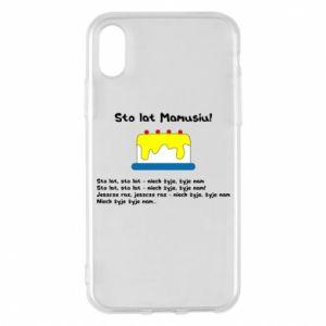 Phone case for iPhone X/Xs Happy Birthday Mommy! - PrintSalon