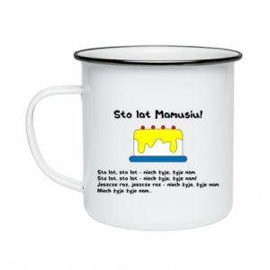 Enameled mug Happy Birthday Mommy! - PrintSalon